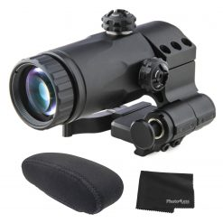 MEPROLIGHT MX3-F 3X Magnifier Scope for Reflex & Red Dot Sights with Flip Mount + Field Cover