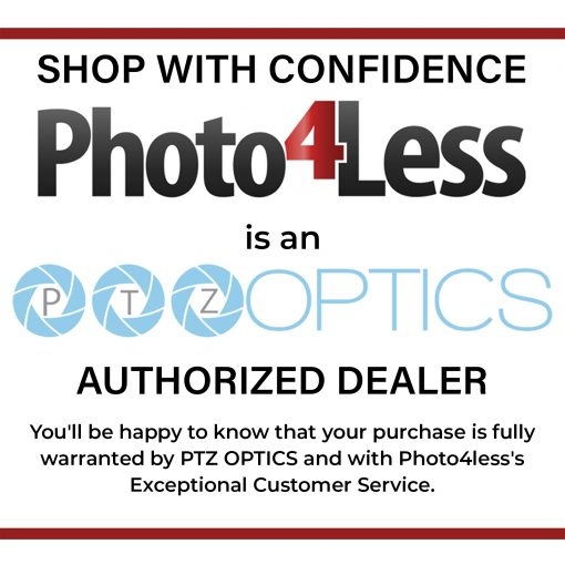 PTZOPtics 20X-NDI-WH 20x Lens NDI Camera+ Slik Aluminum Tripod