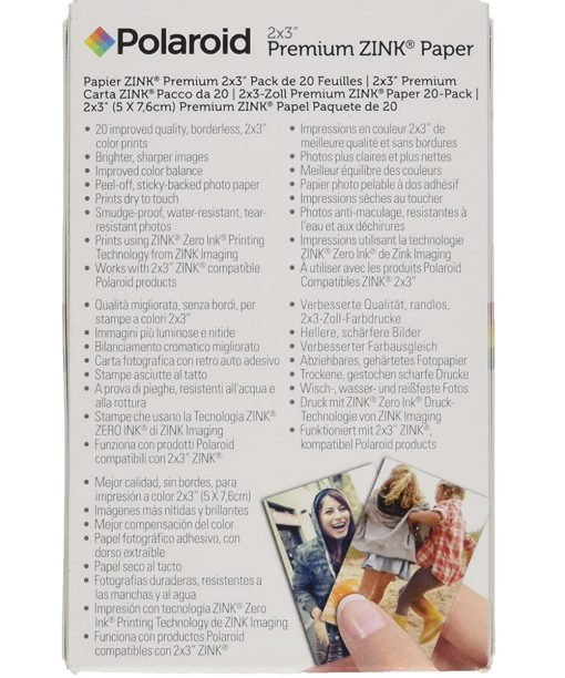 "Polaroid 2"" x 3"" Premium ZINK Borderless Photo Paper - 20 sheets"