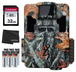 Browning Trail Cameras Dark Ops Pro XD Dual Lens BTC-6PXD + 32GB SD Card + 8 AA Batteries and Lens Cleaning Cloth