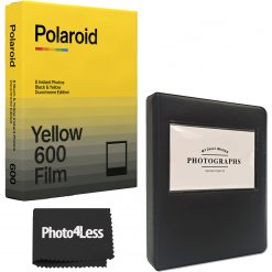 Polaroid Duochrome film for 600 Black & Yellow Edition + Album + Cloth