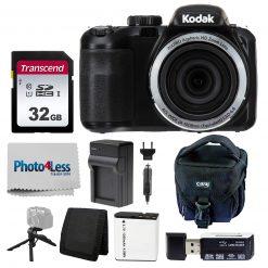 Kodak PIXPRO AZ421 Digital Camera (Black) Bundle with SD Card, Case, & More!