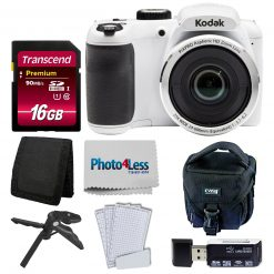 Kodak PIXPRO AZ252 Digital Camera (White) Kit + 16GB Memory Card + Accessories!