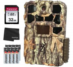 Browning BTC 7-4K EDGE Recon Force Edge 32MP 4K Trail Camera + 32GB SD Card, 8 AA Batteries and Lens Cleaning Cloth