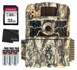 Browning BTC 5HD-MAX Strike Force Max HD 18MP Trail Camera + 32GB SD Card, 8 AA Batteries and Lens Cleaning Cloth