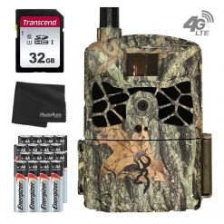 Browning BTC-DWC-ATT Defender Wireless Cellular 4G 20MP Trail Camera - AT&T + 32GB SD Card, 16 AA Batteries and Lens Cleaning Cloth