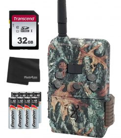 Browning BTC DWPS-ATT Defender Wireless Pro Scout Cellular 16MP Trail Camera -  AT&T + 32GB SD Card, 8 Batteries & Lens Cleaning Cloth