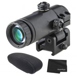 Meprolight MX3-T 3X Magnifier Scope for Reflex & Red Dot Sights with Tactical Flip Mount + Field Cover & Lens Cleaning Cloth