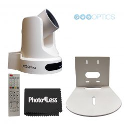 PTZOptics 20X Optical Zoom Live Streaming Broadcasting Camera+ Wall Mount Bracket