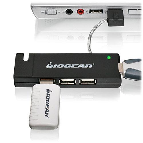IOGEAR 4-Port USB 2.0 Hub GUH285 (Black)
