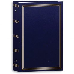 "Pioneer Photo Albums Pocket Three-Ring Binder Album - 4 x 6"" (Holds 504 Photos) Navy Blue STC504"