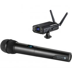 Audio-Technica ATW-1702 System 10 Camera-mount Digital WirelessSystem includes: ATW-R1700 receiver and ATW-T1002 handheld dynamic unidirectional microphone/transmitter, 2.4 GHz