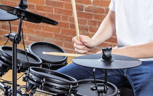 Alesis Nitro Mesh Eight Piece Electronic Drum Kit  + Ear Headphone + Drumsticks