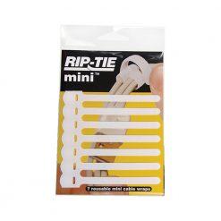 Rip-Tie 3.5 Mini Cable Wraps (White, 7-Pack)