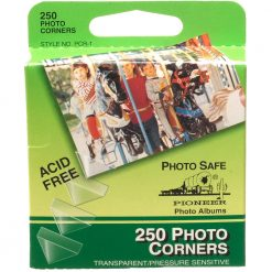 Pioneer Photo Corners Self Adhesive, Clear, 250-Pack (PCR1)