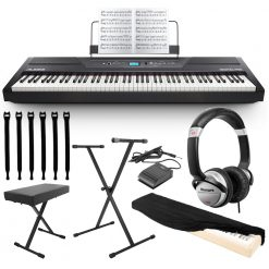 Alesis Recital Pro 88-Key Digital Piano with Hammer-Action Keys - Full Bundle Kit