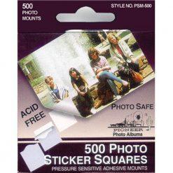 Pioneer Photo Squares Self Adhesive, 500/Pkg, White, 1/2 Inch