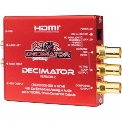 Decimator 2 3G/HD/SD-SDI to HDMI Converter with De-Embedded Analogue Audio