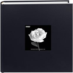 "Pioneer Photo Album 4""X6"", 2-Up, 200 Pocket Sewn Leatherette Frame Bi Directional Album Navy"