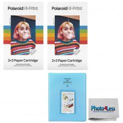 Polaroid Hi-Print 2X3 Paper Cartridge 40 sheets + Album Holds 128 Photos