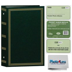 "Pioneer Photo Album 4""X6""  3-Ring Binder Album Hunter Green Holds 504 Photos"