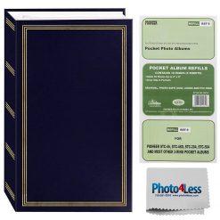 "Pioneer Photo Album 4""X6""  3-Ring Binder Album Navy Blue Holds 504 Photos"