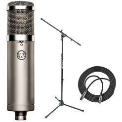 Warm Audio WA-47jr FET Condenser Microphone + Euro Boom Mic Stand + XLR Mic Cable