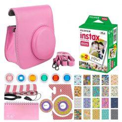 Fujifilm Instax Mini Instant Film (20 Exposures) + Pink Case + Strap + Album