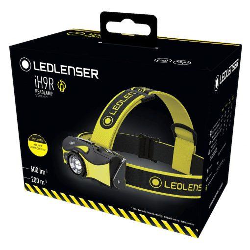 LEDLENSER iH9R High Power Multicolor LED Rechargeable (or AA Alkaline Batteries) Headlamp, 600 Lumens