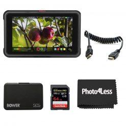 "Atomos Ninja V 5"" Touchscreen Recording Monitor + Atomos Full HDMI Coiled Cable+  SanDisk 64GB Memory Card+  Bower Memory Card Holder"