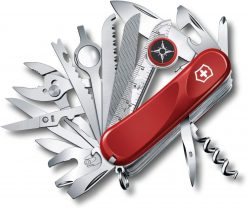 Victorinox Swiss Army Evolution S54 ToolChest Plus Pocket Knife Multi-Tool, Red