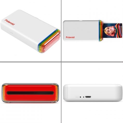 Polaroid Hi-Print 2x3 Pocket Photo Printer + Hi-Print - 2X3 Paper Cartridge 20 sheets + Light Blue Album + Cloth