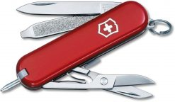 Victorinox Swiss Army Signature Pocket Knife Multi-Tool, Red