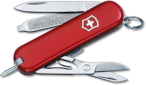 Victorinox Swiss Army Signature Pocket Knife Multi-Tool, Red