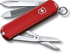 Victorinox Swiss Army Executive 81 Pocket Knife Multi-Tool, Red