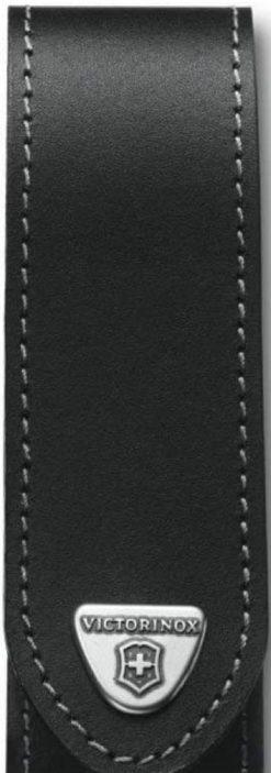Victorinox Swiss Army Small RangerGrip Belt Pouch, Black Leather