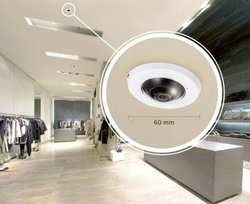 Vivotek 5MP Recessed Mount WDR Indoor 360° Panoramic Dome