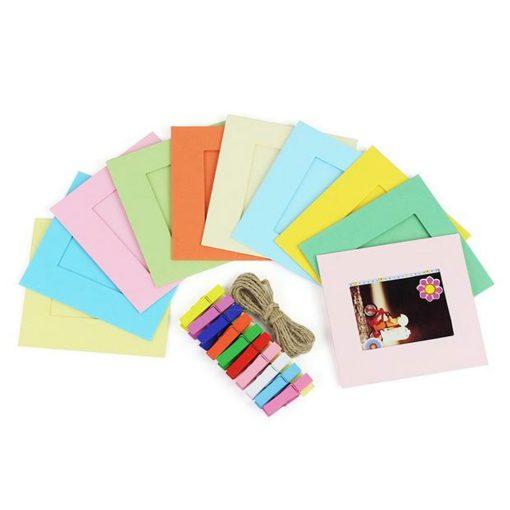 Fujifilm Instax Square Rainbow Film (10 Sheets) + Square Film (20 Exposures) + Hanging Frames + Cloth