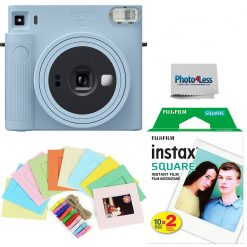 Fujifilm Instax Square SQ1 Glacier Blue Instant Camera + Twin Pack Film + Hanging Frames