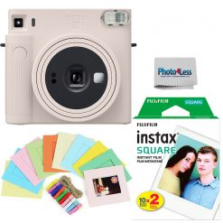 Fujifilm Instax Square SQ1 Chalk White Instant Camera + Twin Pack Film + Hanging Frames