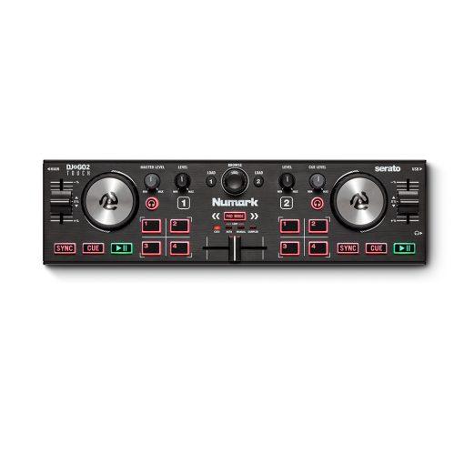 Numark Professional DJ2GO2 Touch Pocket DJ Controller with Capacitive Touch Jog Wheels + HF125 Professional DJ Headphones