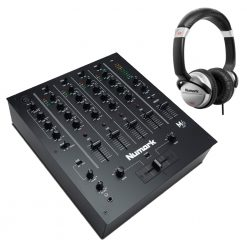 Numark Professional M6 USB 4-Channel USB DJ Mixer + HF125 Professional DJ Headphones