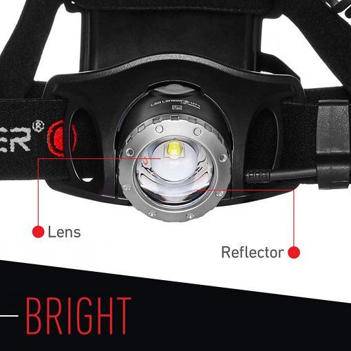 LEDLENSER- H7.2 Headlamp, 5- 250 Lumens, Black