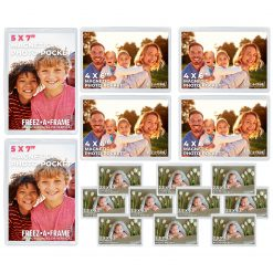 Freez A Frame Clear Magnetic Pockets 16 Pack (2) 5 x 7 (4) 4 x 6 (10) 2.5 x 3.5 - Exclusive