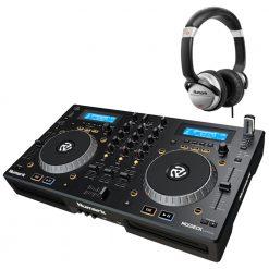 Numark Professional Mixdeck Express Premium DJ Controller with CD and USB Playback + HF125 Professional DJ Headphones
