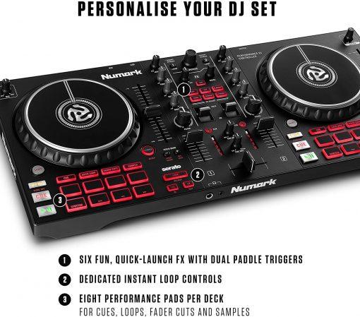 Numark Professional Mixtrack Pro FX 2-Deck DJ Controller with Effects Paddles + HF125 Professional DJ Headphones