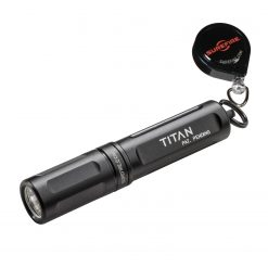 SureFire Titan Ultra-Compact Dual-Output LED Keychain Light - 125 Lumens + SureFire Lightkeeper Lanyard with Automatic Return Cord