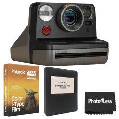 Polaroid Now-Mandalorian I-Type Camera + Polaroid Color Film for I-Type- The Mandalorian Edition + Album + Cloth