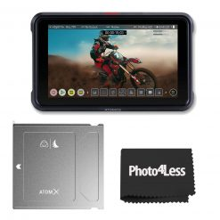 "Atomos Ninja V 5"" Touchscreen Recording Monitor With Atomos Angelbird ATOM X SSDmini 500 GB External Solid State Drive"