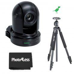 BirdDog Eyes P200 1080P Full NDI PTZ Camera w/Sony Sensor & HDMI/3G-SDI, Black + Slik Sprint 150 Aluminum Tripod with SBH-150DQ Ball Head